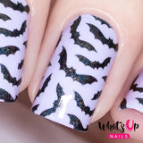 Whats Up Nails / Bats Stickers & Stencils Halloween Nail Art