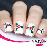 Daily Charme Nail Art Supply Nail Vinyls Sticker Stencil Whats Up Nails / Holly Stencils