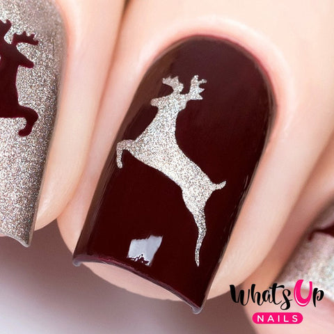 Daily Charme Nail Art Supply Nail Vinyls Sticker Stencil Whats Up Nails / Deer Stickers & Stencils