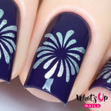 Daily Charme Nail Art Supply Nail Vinyls Sticker Stencil Whats Up Nails / Firework Stickers & Stencils