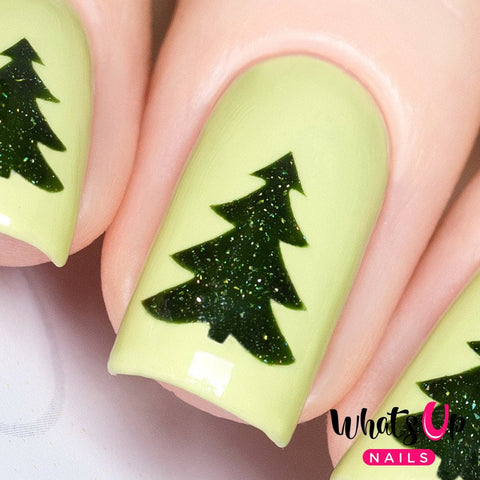 Daily Charme Nail Art Supply Nail Vinyls Sticker Stencil Whats Up Nails / Pine Tree Stickers & Stencils