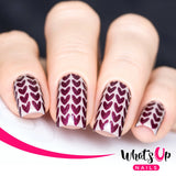 Daily Charme Nail Art Supply Nail Vinyls Sticker Stencil Whats Up Nails / Knitting Stitches Stencils
