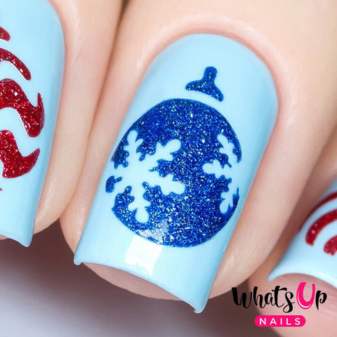 Daily Charme Nail Art Supply Nail Vinyls Sticker Stencil Whats Up Nails / Ornament Stencils