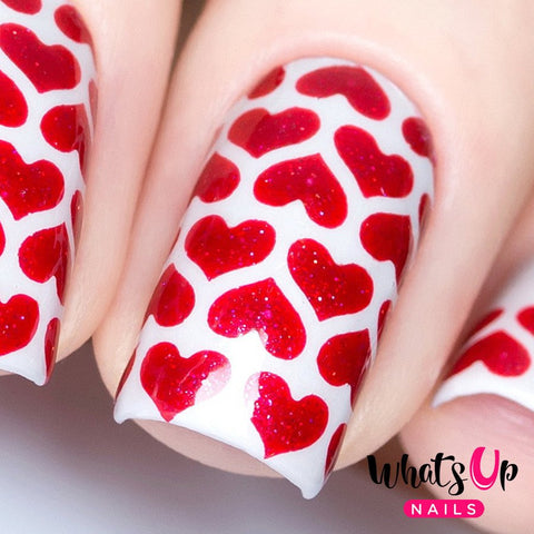 Daily Charme Nail Art Supply Nail Vinyls Sticker Stencil Whats Up Nails / Heart Lines Stencils