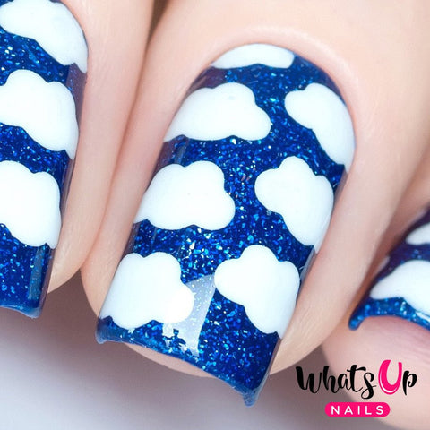 Daily Charme Nail Art Supply Nail Vinyls Sticker Stencil Whats Up Nails / Clouds Stencils