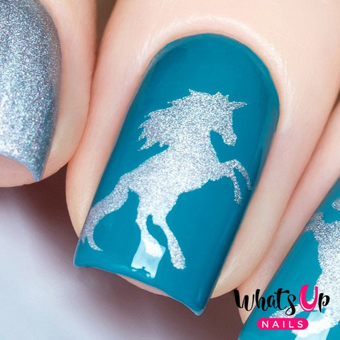 Daily Charme Nail Art Supply Nail Vinyls Sticker Stencil Whats Up Nails / Unicorn Stencils