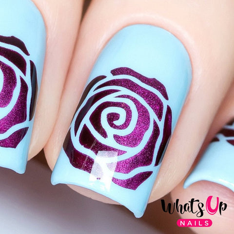 Daily Charme Nail Art Supply Nail Vinyls Sticker Stencil Whats Up Nails / Rose Petals Stencils