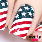 Daily Charme Nail Vinyls Whats Up Nails / American Flag Stencils