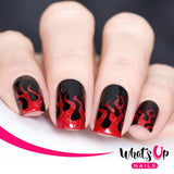 Daily Charme Nail Art Supply Nail Vinyls Sticker Stencil Whats Up Nails / Fire Stencils