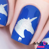 Daily Charme Nail Art Supply Nail Vinyls Sticker Stencil Whats Up Nails / Unicorn Head Stencils