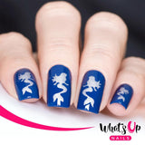 Daily Charme Nail Art Supply Nail Vinyls Sticker Stencil Whats Up Nails / Mermaid Stencils
