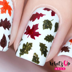 Daily Charme Nail Art Supply Nail Vinyls Sticker Stencil Whats Up Nails / Autumn Stencils