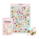 Withshyan Korean Quality Nail Art Sticker 08 Flowers