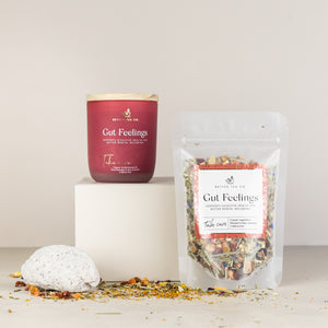 Gut Feelings Glass Jar with Tea (Available 31st May)