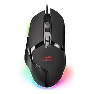 LED gaming-mus Mars Gaming MMGX RGB 10000 dpi 60 ips Sort
