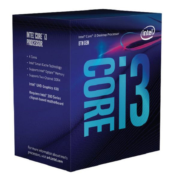 Processor Intel Core™ i3-8100 3,6 Ghz 6 MB LGA 1151 BOX - CYBERSHOP