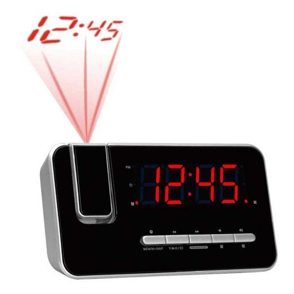 Clockradio Denver Electronics CRP-618 FM Sort - CYBERSHOP