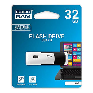 USB stick GoodRam UCO2 USB 2.0 Hvid/sort - CYBERSHOP