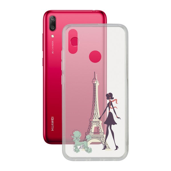 Mobilcover Huawei Y7 2019 Contact Flex France TPU