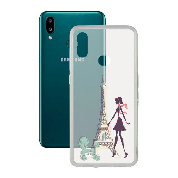 Mobilcover Samsung Galaxy A10s Contact Flex France TPU - CYBERSHOP