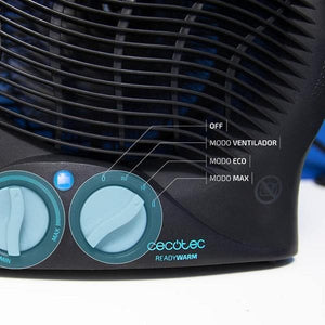 Bærbar varmeblæser Cecotec Ready Warm 9500 Force 2000W Sort
