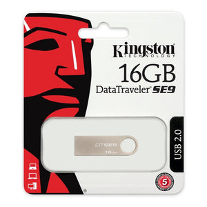 USB stick Kingston FAELAP0171 DTSE9H 16 GB USB 2.0 Sølvfarvet Metal - CYBERSHOP