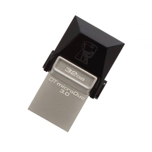 USB og Micro USB Memory Stick Kingston DTDUO3 32 GB USB 3.0 Sort Grå - CYBERSHOP