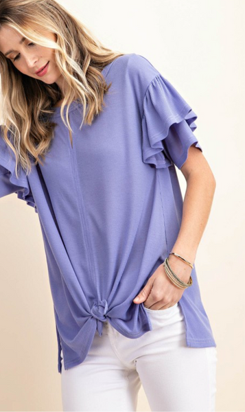Berry Berry Blue Tie Top