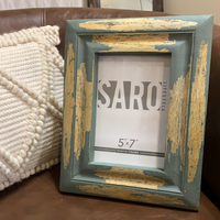 Teal Distressed Frame - 5x7