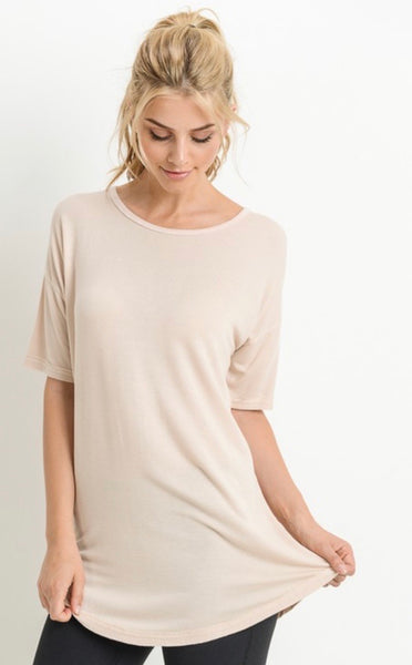 Natural Strap Accent Tunic