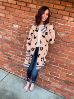 Light Pink Leopard Cardigan