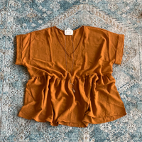 PLUS Mustard Rust Blouse