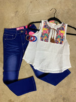 Girls Embroidered Tank