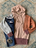 Color Block SOFT & Warm Hoodie