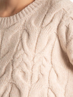 Cable-knit  sweater pullover