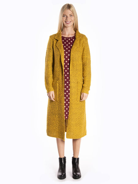 sweater long cardigan_ yellow_front