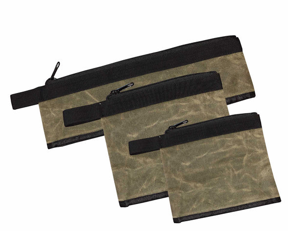 Medium Bags set of 3 # 12 Waxed Canvas