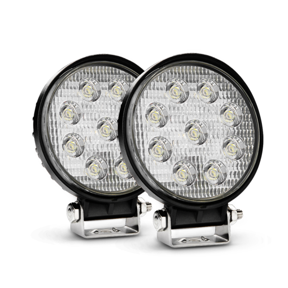 Nilight 2PCS 4.5 Inch Round 27W Flood Offroad LED Driving Lamp