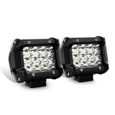 Nilight 2PCS 4Inch Triple Row Spot LED Pods