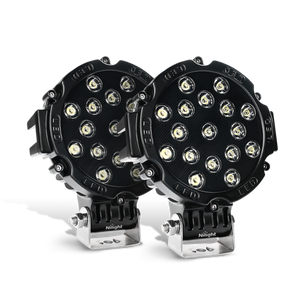 Nilight 2PCS 7 Inch Round 51W Spot LED Lights for Offroad