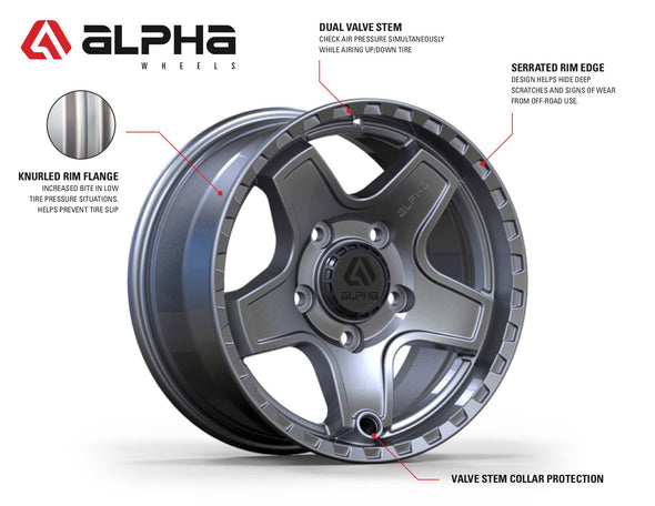 Alpha Wheels Command (Set of 4)