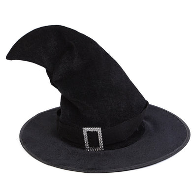 Halloween Cosplay Black Belt Witch Prop Hat