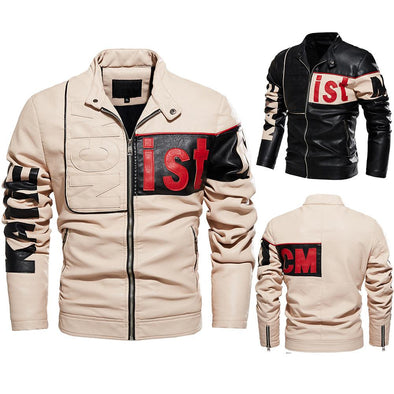 Men's Motor Leather Zipper Jacket Fashionmen