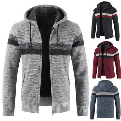 2020 Men Fashion Casual Thick Hoodies Coat