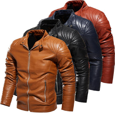 Men's Motorcycle Fashion Customized Leather Jacket