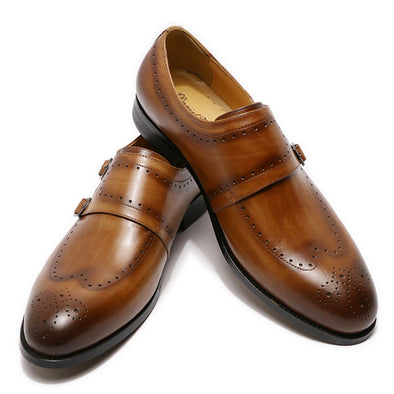 2020 New Men Fashion Formal Leather Shoes