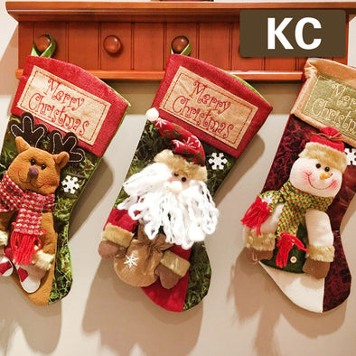 Christmas Decorations For Home Christmas Stocking Gift Bag(Three in one pack)