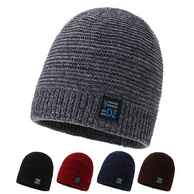 New Fashion Solid Stripe windproof Knitted Cap