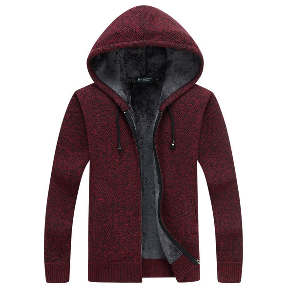 2020 New Men Winter Warm Solid Knitted Coat