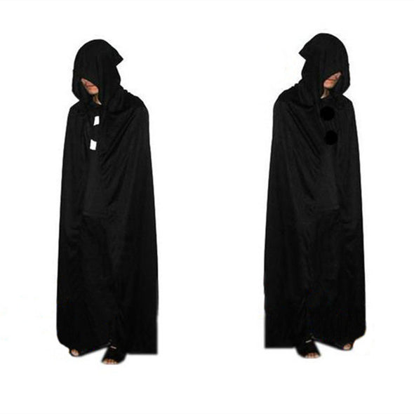 Halloween Cosplay Adult Black Death Devil Hooded Cloak